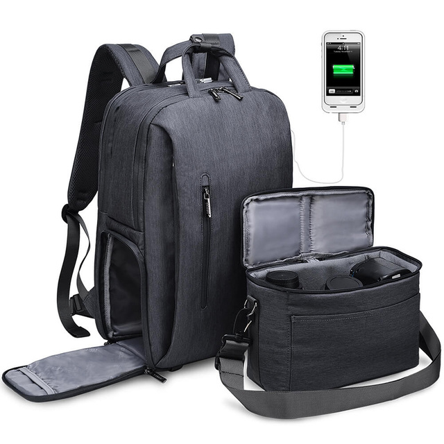 Waterproof Camera Bag Nylon National Anti-theft Fit for a 15inch Laptop Geography Backpack with Rain Cover For Canon Nikon Sony