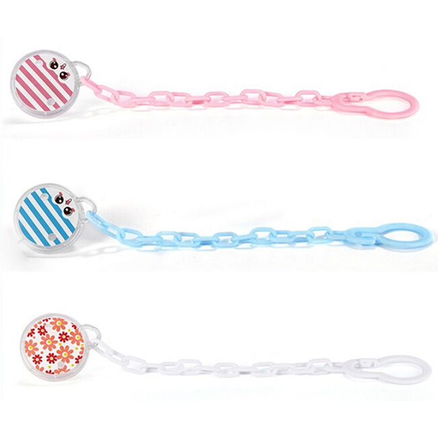 New Baby Pacifier Clip Pacifier Chain Hand Made Colourful Print Striped Dummy Clip Baby Soother Nipple Holder for Baby Kids