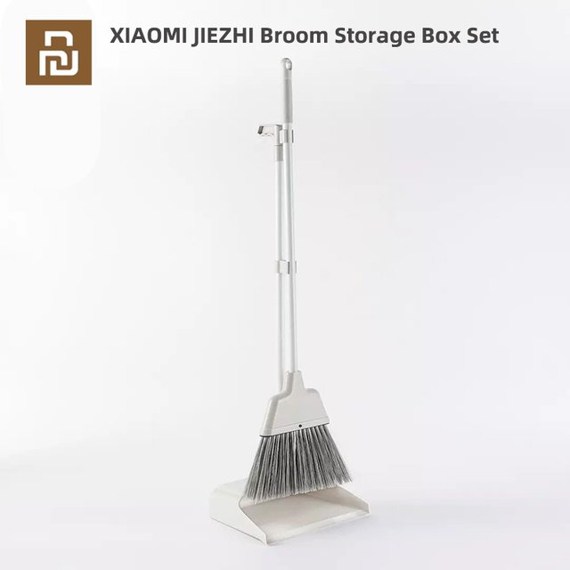 Youpin Ecological Chain JIEZHI Broom Storage Box Set Folding storage PET four-layer bristles hanging Tooth Design For Family
