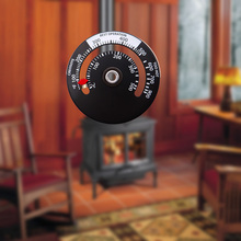 Magnetic Stove Thermometer Heat Powered For Wood Log Burning Stove Fireplace Burner Fireplace Fan Thermometer Fireplace Tools