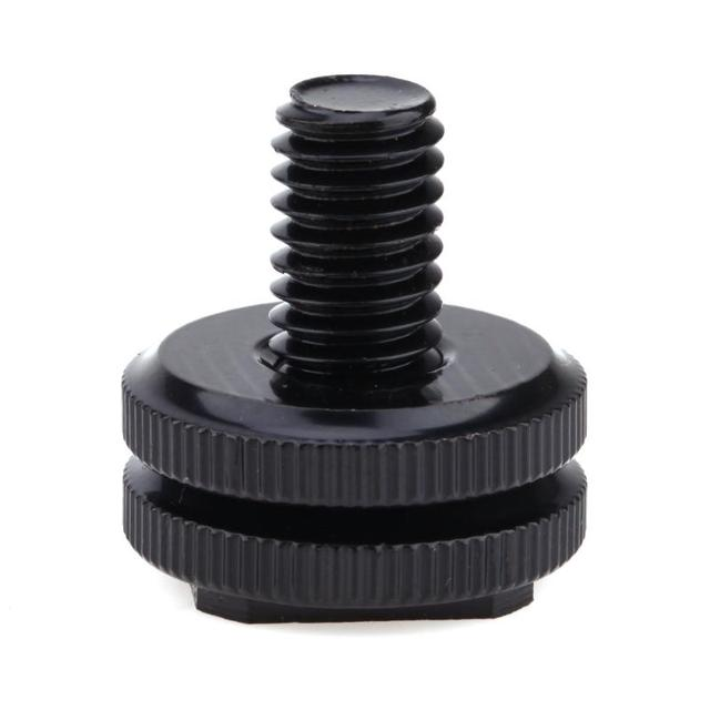 "3/8"" Tripod Mount Screw with Double Layer to Flash Hot Shoe Adapter Holder"