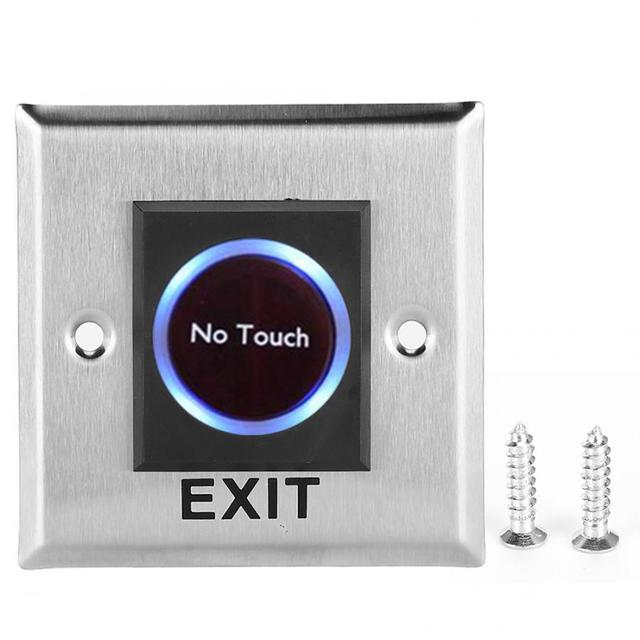 Infrared Sensor Switch Contactless No  Door Exit Button with Backlight for Access Control Door Exit Button