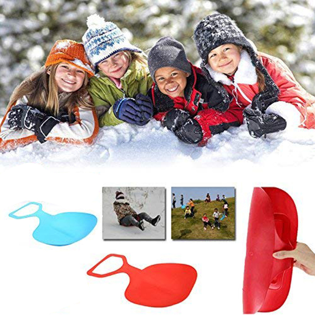 Ski Sled Snowboard Thickened Skiing Pad Winter Outdoor Snow Sport Sleds Plastic Boards Sand Grass Snow Gift for Adult Children
