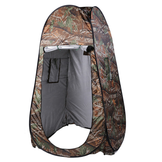 Portable Outdoor Waterproof Single person shower tent beach fishing camping toilet tent changing room tent with Carrying Bag