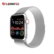 LEMFO W68 New Smart Watch Men 1.54 Inch Full Touch All Day Bright Display Heart Rate Display For Apple IOS android Phone