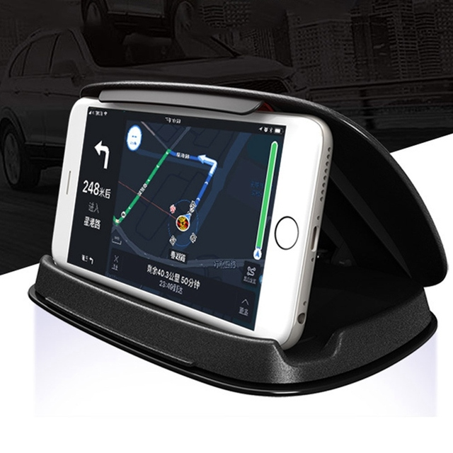 Car Phone Holder Silicone Anti Slip Mat Mobile Phone Mount Stands Bracket Support GPS Navigation Car Styling