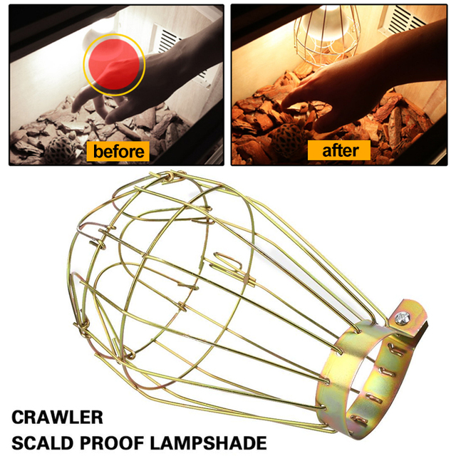 Lamp Shade Copper 10 * 14cm Explosion-Proof Indoor Decoration Lighting Parts Reptile Supply Lamp Cover Iron Home Room Decor