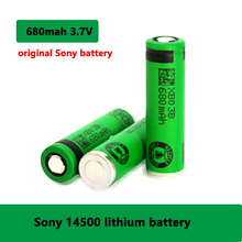 SONY Original 3.7V 680mAh 14500 battery Lithium-ion Rechargeable Batteries 14500 lithium battery for electronic toy flashlight