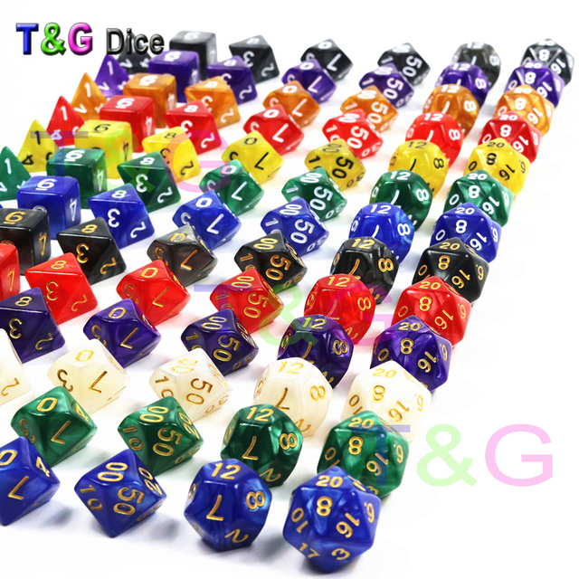 7Pcs/Set Resin Polyhedral TRPG Games For DND Game Opaque D4-D20 Multi Sides Dice Pop for board Game Gaming dice toy