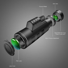 Monocular Long Telephoto Binoculars Low-Light-Level Night Vision Outdoor High-definition Binoculars 40X60 High Power Monocular T