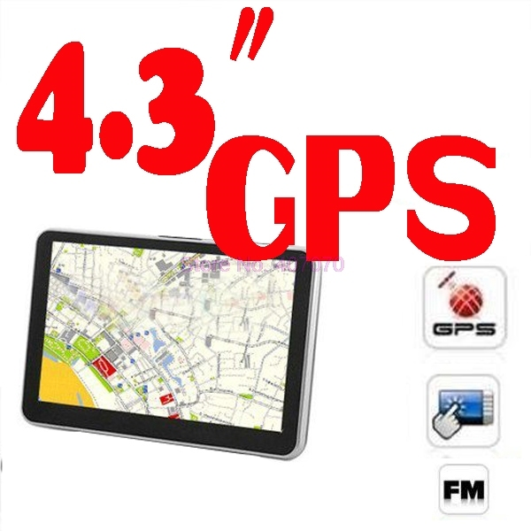 """by DHL or Fedex 20pcs  4.3"""" GPS Navigation System build in 4GB Memorry With map 256mb 8gb"""