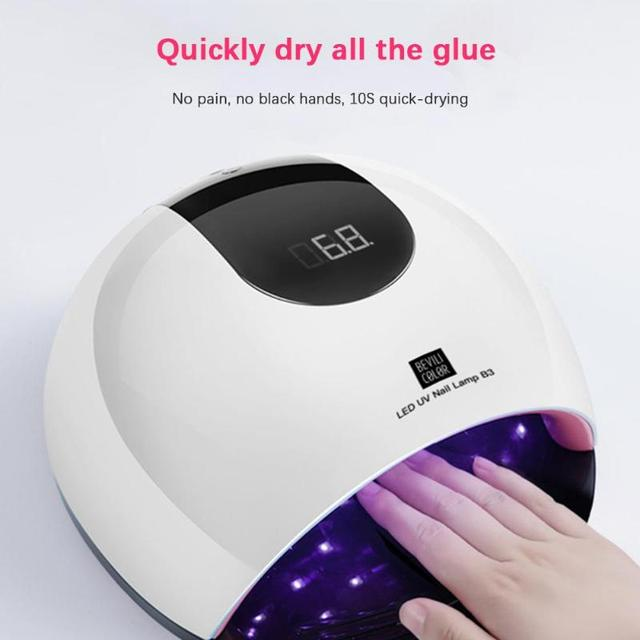 80W UV LED Nail Lamp Dryer Timer USB Power Manicure Polish Curing Tools