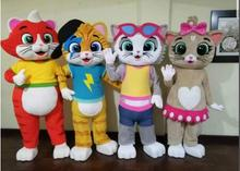 1pc Hot Sale New Custom Made cat mascot costume 44 cats Mascot Costume For Adult Free Shipping