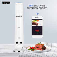 KWASYO Slow Cooker Vacuum Slow Sous Vide Food Cooker 1000W Powerful Immersion Circulator -Wifi App Smart Control Timer Display