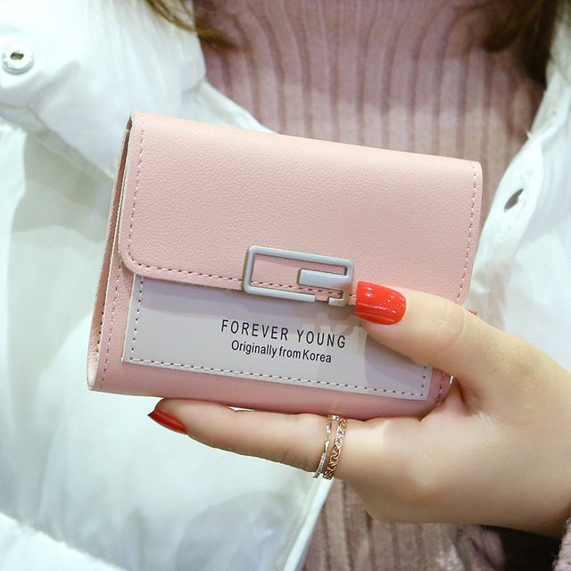 Fashion Short Wallet Female Purse Cute Women Wallets High Quality Female Clutch Hasp Coin Purse Card Holder PU Leather Money Bag