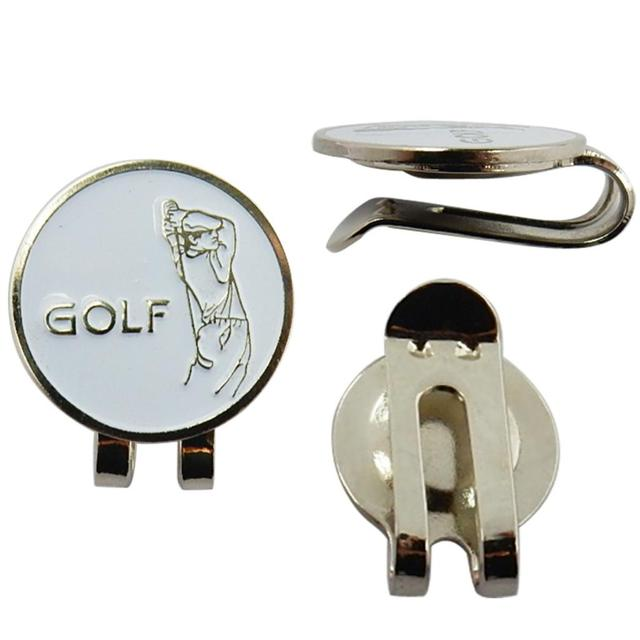 Sturdy Golfer Pattern Magnetic Golf Ball Marker Clip On Golf Cap Visor Golf Accessory Gift
