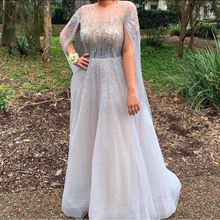 Long Sleeves Celebrity Dress Elegant Beaded Sweep Train Red Carpet Formal Evening Gowns Sheer Back Designer Crystals Prom Wear