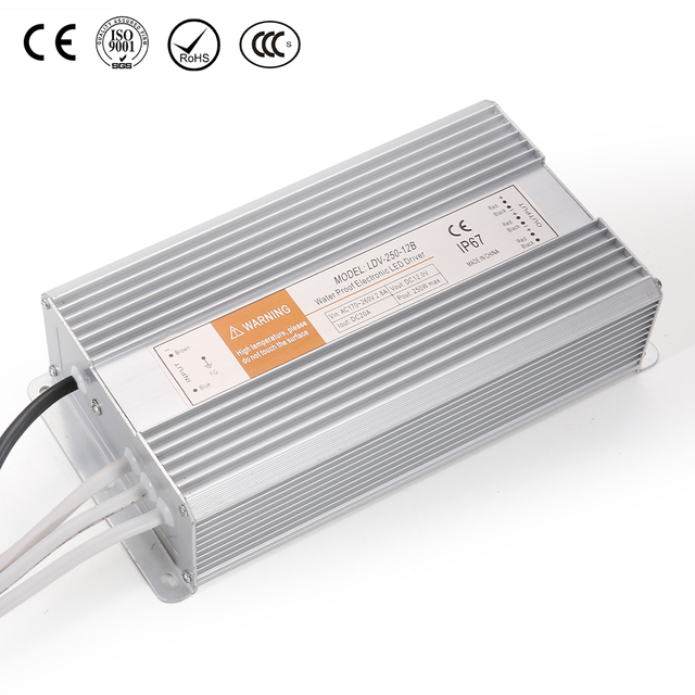 waterproof led driver power constant voltage 24v Leyu LDV-250-24 single output 24V 10A switching power supply