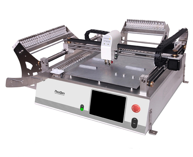 SMT chip mounter, NeoDen3V with vision system, 2 heads, 44 feeders, prototype or small batch production, pick and place machine