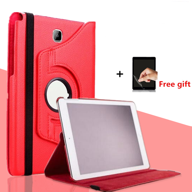 360 Rotating Cover For tablet Samsung Galaxy Tab A 8.0 Case T350 T351 T355 P350 SM-T355 PU Leather Stand Tablet 8 '' Case+film