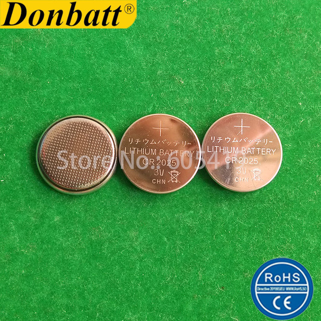 10000pcs CR2025 DL2025 2025 Coin Cell Batteries 3V Lithium Tray Packing