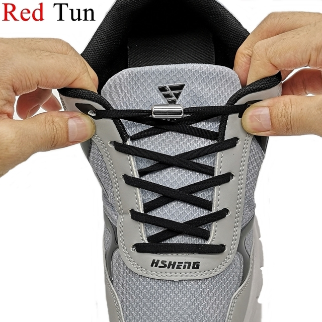 1Pair No tie Shoelaces Round Elastic Shoe Laces For Kids and Adult Sneakers Shoelace Quick Shoelaces Semicircle Shoestrings
