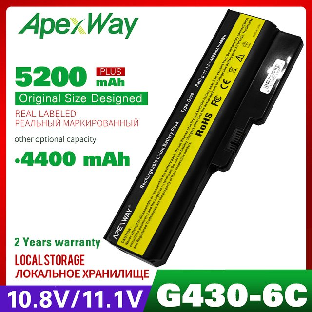 11.1V laptop battery for LENOVO L06L6Y02 L08L6C02 L08L6Y02 L08O6C02 57Y6527 57Y6528 42T4586 42T4728 42T4585 42T4727 G550 G555