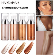 20ml Shimmer Body Foundation Cream Body Face Contour Highlighter Soft Liquid High Gloss Concealer Makeup Base Brighten Skin
