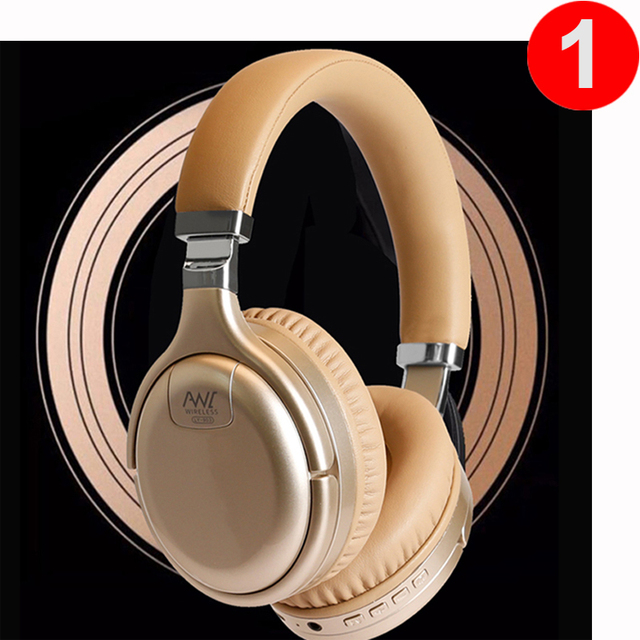 ANC Active Noise Cancelling Headphone Bluetooth Headphones Wireless & Wired Headset Deep Bass Hifi Sound With MIC for PC Phone