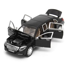 1:24 Mercedes Maybach S600 toy Model Limousine Diecast Metal Model Car Toy Car Collection For Children Christmas Gift Toy