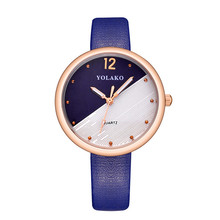 YOLAKO Brand Women Clock Leather Band Quartz Watches Ladies Watch Korean Style Cute Fashion Casual Wristwatches relojes mujer
