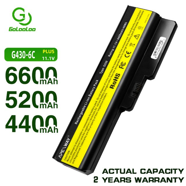 Golooloo 6 cells  battery for Lenovo  42T4581 42T4583 42T4584 42T4585 42T4586 42T4721 42T4725 42T4726 42T4727 42T4728