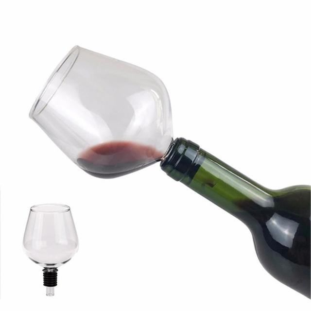 Fashion Drinking Directly from Bottle Clear Wine Glass Goblet Champagne Cup Barware Easy To Clean Perfect Gift Safe Material