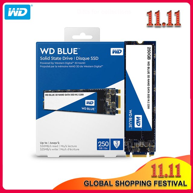 Original Western Digital Internal Solid State 250GB 500GB 1TB 2TB Blue SSD  Hard Drive Disk  M.2 2280 560MB/s for Laptop/PC