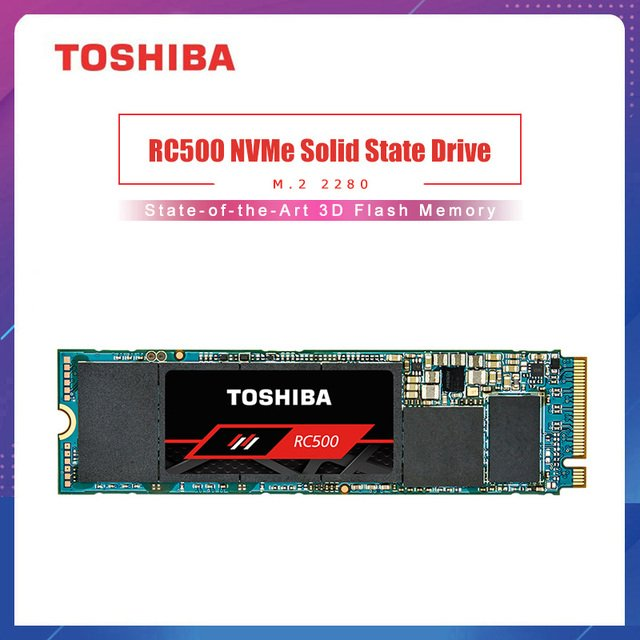TOSHIBA RC500 NVMe Solid State Drive 250GB 500GB Internal SSD M.2 2280 Hard Disk 3D Flash Memory For Laptop NoteBook PC