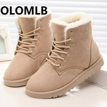 new women Winter Snow Boots Platform Warm Fur Plush Martin boost Sneakers Lace up Casual Shoes Boots Ankle