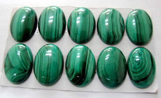 Natural Malachite Cabochons 18x25mm oval Semi precious stone jewelry cabochons 3pcs/lot