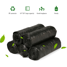 "5 rolls 100pcs Plastic Trash Bags Waste Bin Bags Eco-friendly Garbage Bags for Kitchen Bathroom Home Hotel 18""*20"""