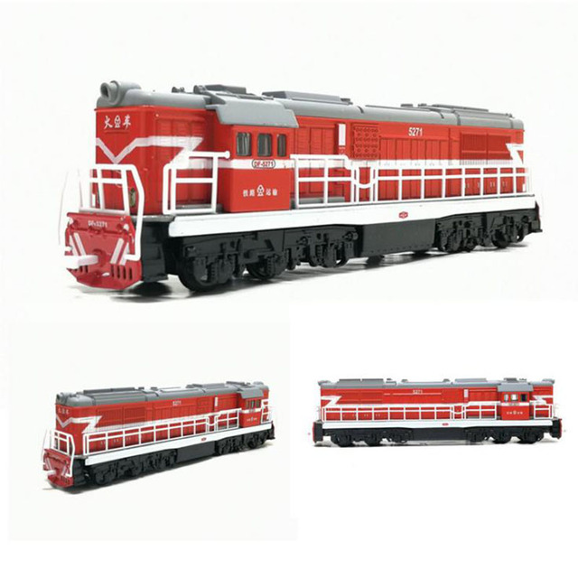 1/50 Scale Die cast Toy Model China Classical Dong feng 5271 Locomotive Classical Train Pull Back Sound Light Toy Free Shipping