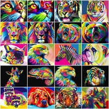 HUACAN Painting By Number Animals Pictures Oil Painting By Numbers Set Home Decor Coloring By Numbers Drawing Canvas Wall Art