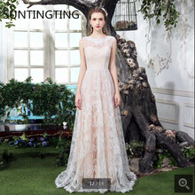 2020 New arrival champagne lace a line summer beach wedding dress backless sexy v back sleeveless bride gowns best selling 2020