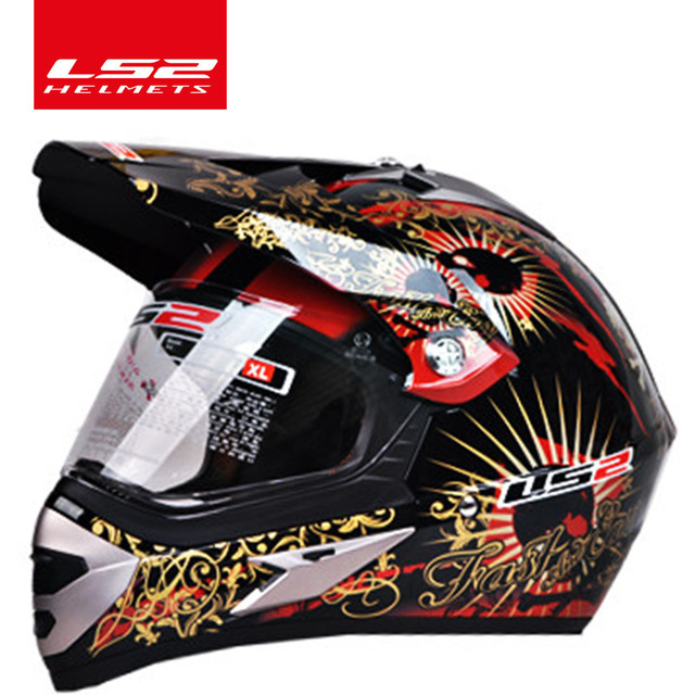 Original LS2 MX433 off-road motorcycle helmet with windproof shield motocross helmets suit for man woman ECE approved