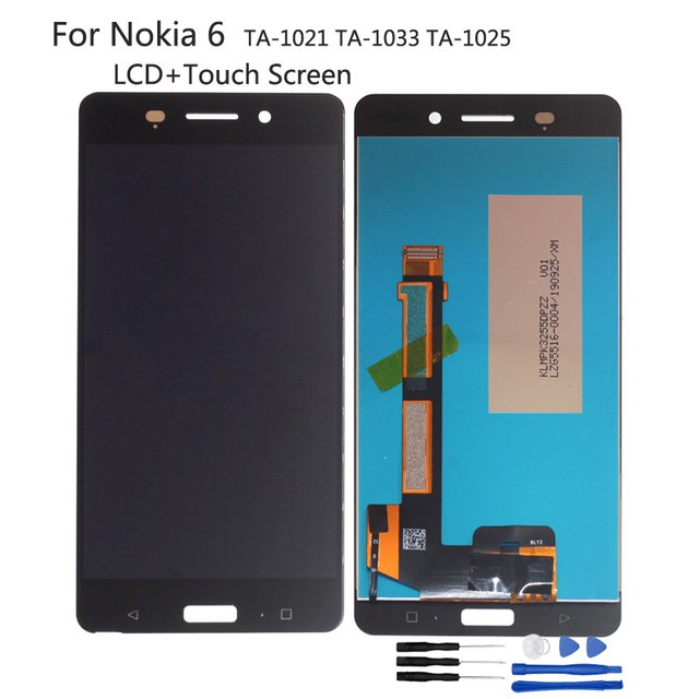 For Nokia 6 LCD Display Touch Screen Glass Panel Digitizer Assembly For Nokia TA-1021 TA-1033 TA-1025 Screen LCD Display + Tools