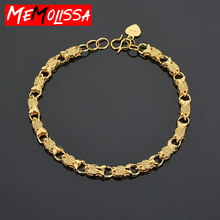 Gold Fish Bracelet for Women Girls Link Chain Bracelets Woman Men Bangle Jewelry Hot Party Jewelry Gifts Never Fade High Quality