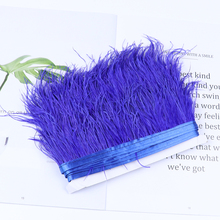 4-6 In Height PURPLE 12 Strip of OSTRICH Feather Fringe