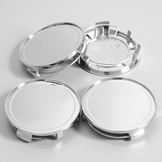 4pcs 75mm ABS Chrome Car Wheel Center Hub Cover Vehicle Center Caps Hubcap Cover Replaceable Dedicated Hub for Mercedes Benz