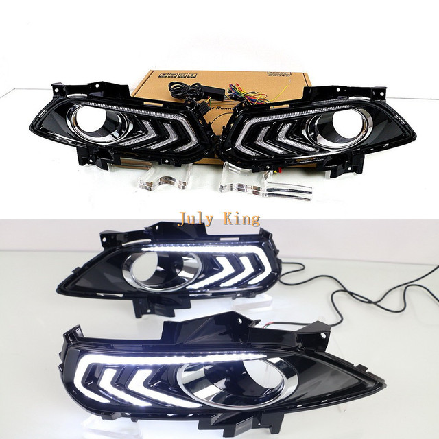July King LED Daytime Running Lights DRL With Fog Lamp Cover case for Ford Fusion Mondeo Winning Fusion 2013-17, 1:1 Replacement