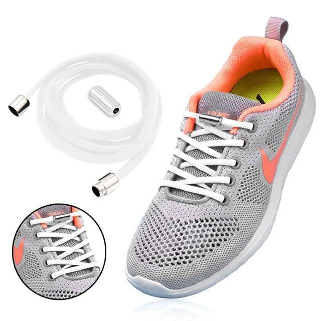 21 Colors No Tie Shoe laces Elastic Shoelaces Kids Adult Semicircle Quick Lock Shoelace Leisure Sneakers Lazy Laces 1Pair