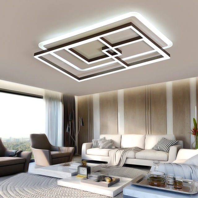 Modern Acrylic Rectangular/Square LED Ceiling Lights Living room bedroom dining room study balcony lighting  ceiling lamps