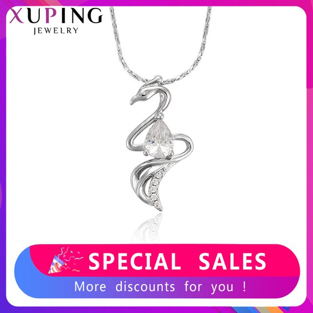 Xuping Fashion Serpentine Pendant Rhodium Color Plated Jewelry for Women Mother's Day Gift M35-30076